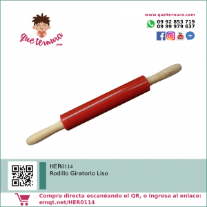 HER0114 Rodillo Giratorio Liso