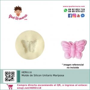 HER0118 Molde de Silicon Unitario Mariposa