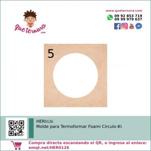 HER0126 Molde para Termoformar Foami Circulo 5