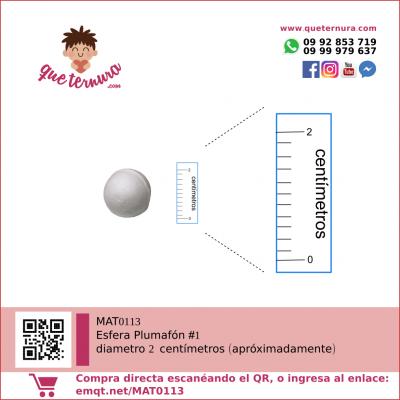 Esfera de Plumafon 1 icopor