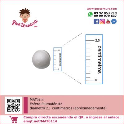 Esfera de Plumafon 2 icopor