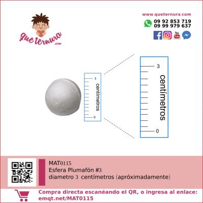 Esfera Plumafon #3 (Icopor)