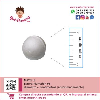 Esfera Plumafon #4 (Icopor)
