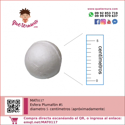 Esfera Plumafon #5 (Icopor)