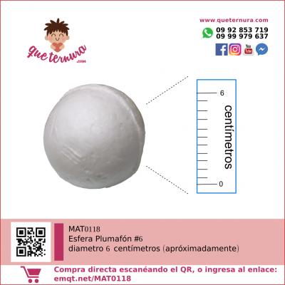 Esfera Plumafon #6 (Icopor)