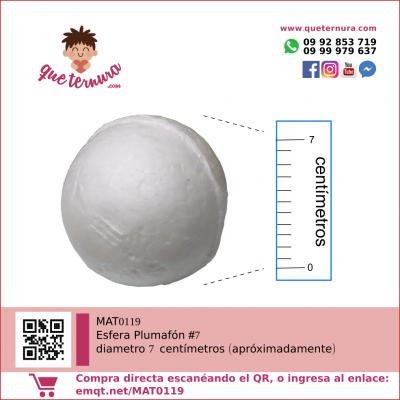 Esfera Plumafon #7 (Icopor)