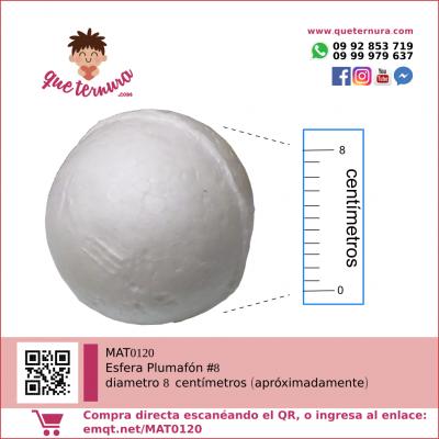 Esfera Plumafon #8 (Icopor)