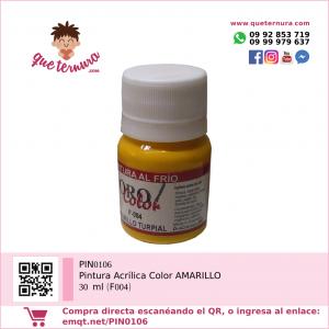 PIN0106 Pintura acrílica color AMARILLO 30 ml (F004)