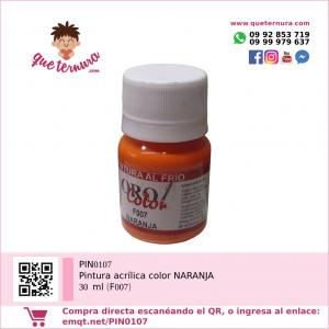PIN0107 Pintura acrílica color NARANJA 30 ml (F007)