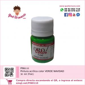 PIN0110 Pintura acrílica color VERDE NAVIDAD 30 ml (F045)