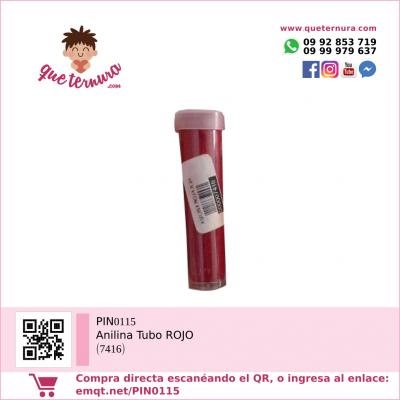 PIN0115 Anilina Tubo ROJO (7416)