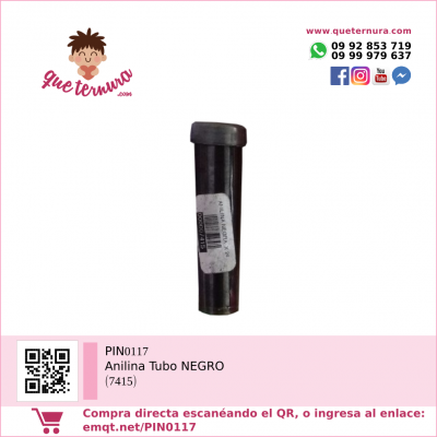 PIN0117 Anilina Tubo NEGRO (7415)