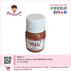 PIN0123 Pintura acrílica color MARRON COCO 30 ml (F080)