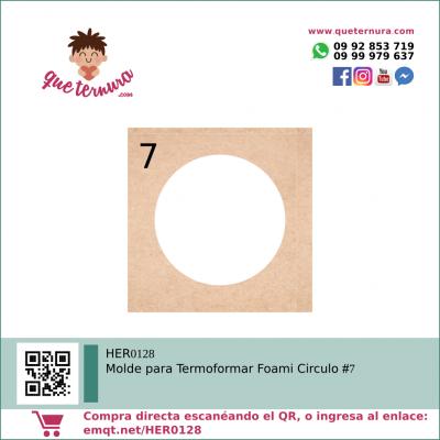 HER0128 Molde para Termoformar Foami Circulo 7