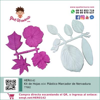 HER0142 Kit de Hojas x14 Plástico Marcador de Nervadura 77002